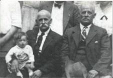 Guinnop, holding grandson, J. G. Burlison and Charles Guinnop
